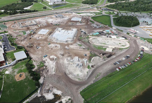 Aerial photo of New Millennium Middle School site