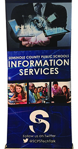 Information Services stand up banner