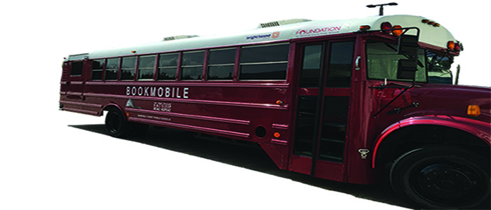 Red Bookmobile Bus decal