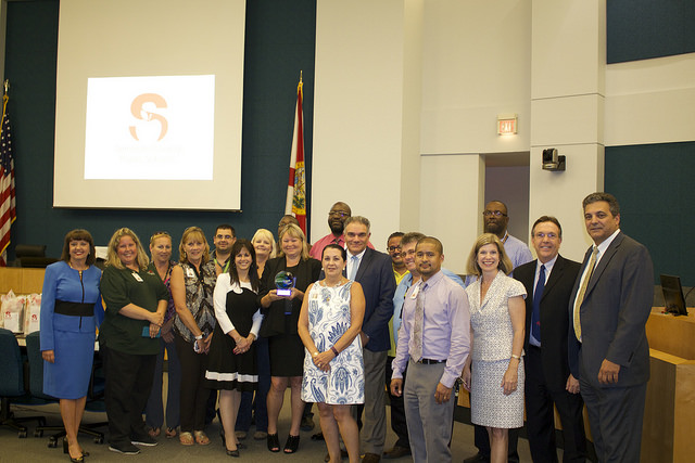 Group Photo of School Board and Transportation Staff Receiving Award