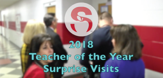 2018 Teacher of the Year Finalists Surprise Visits