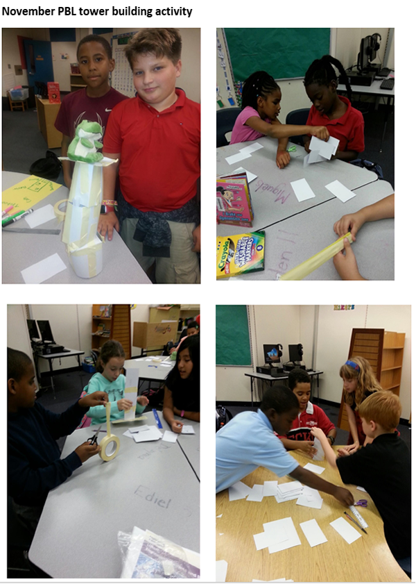 November PBL tower building activity