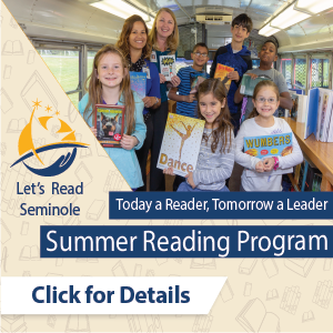 2020 Let's Read Seminole. Click for details.